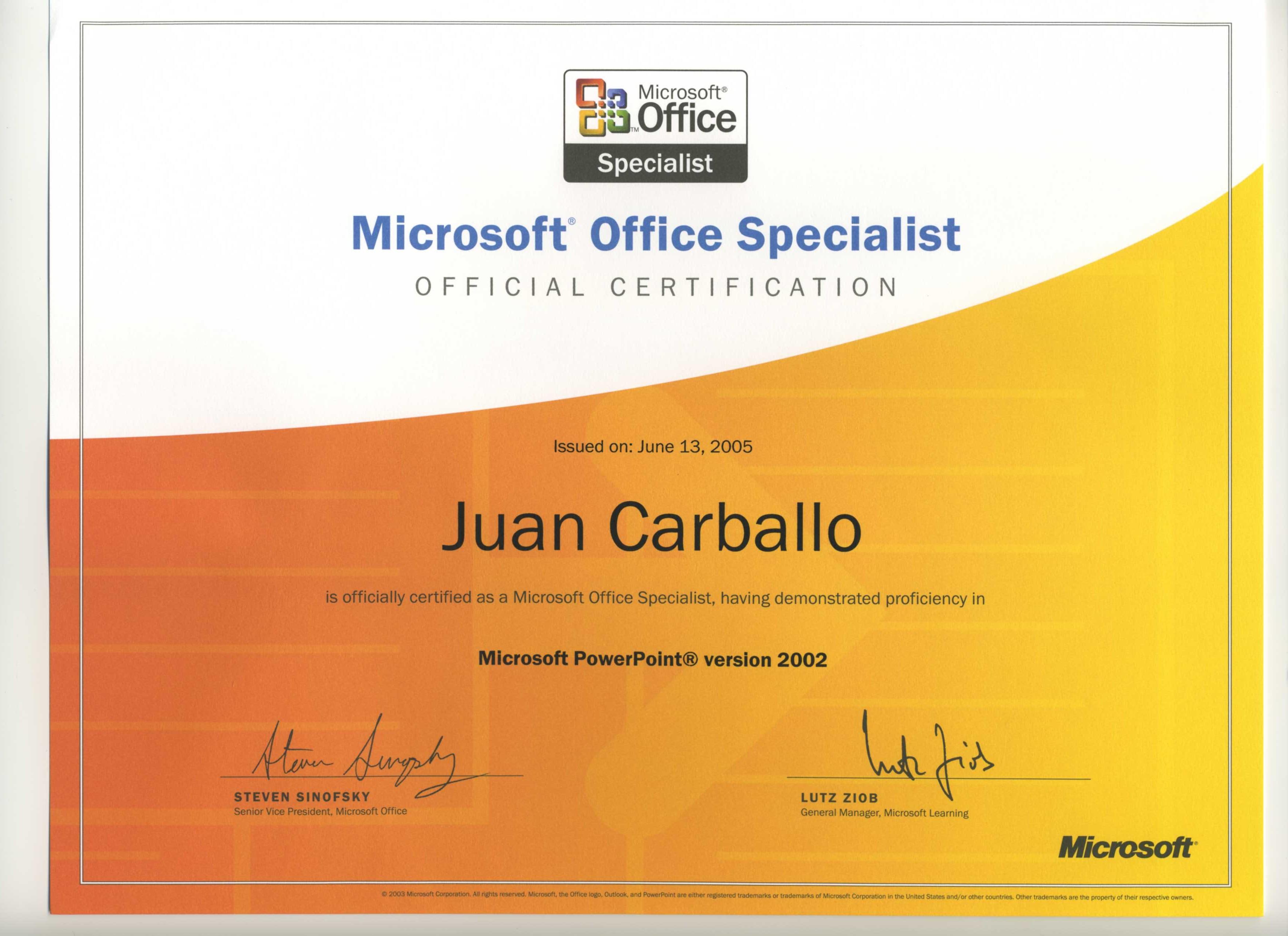 microsoft office master instructor