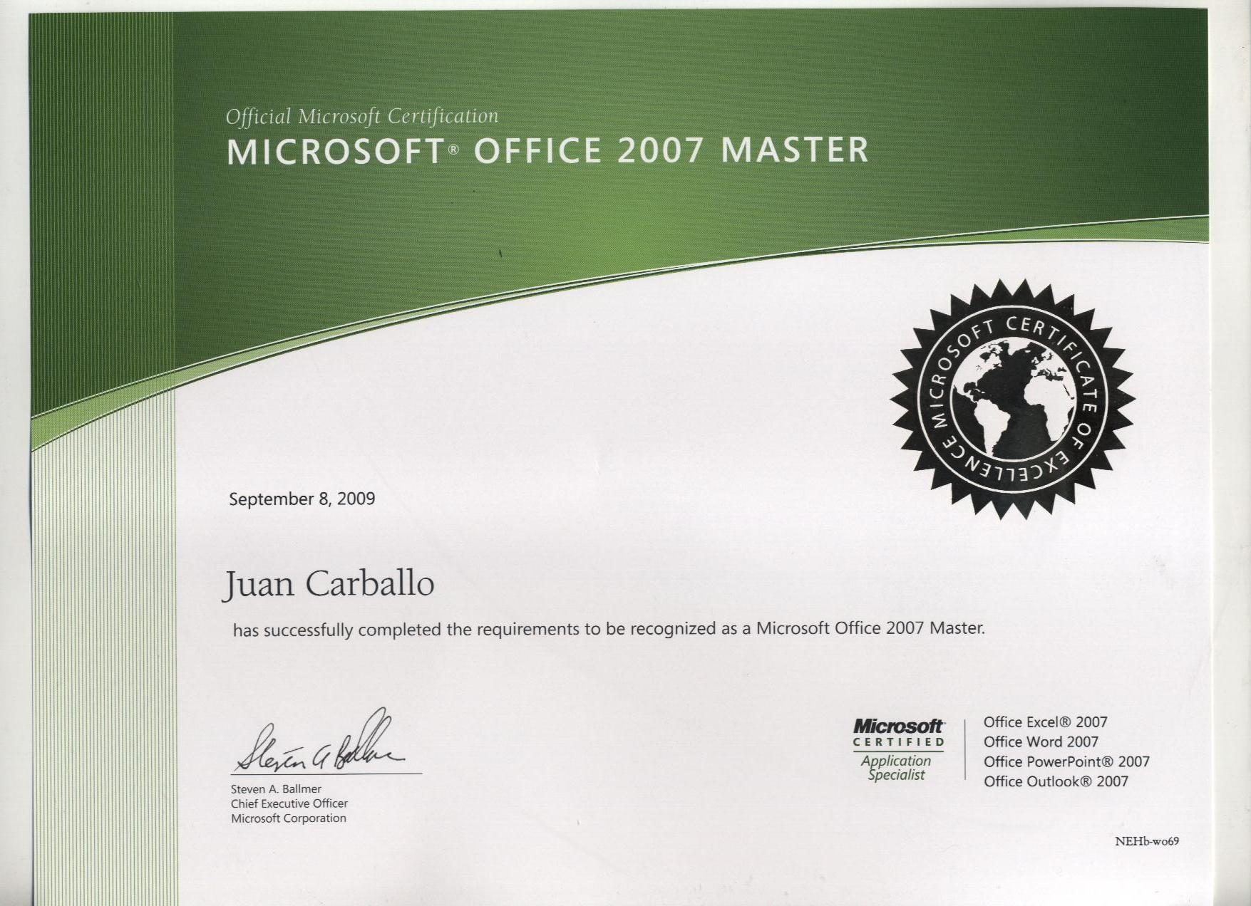 Microsoft Office Specialist Quizzes